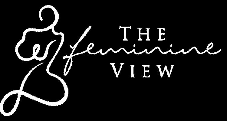 The Feminine View logo white